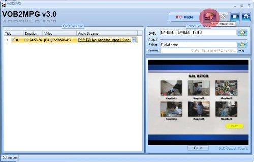 Video-DVD als MPEG-Datei abspeichern